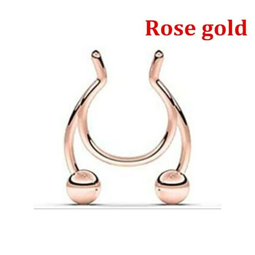 Details about  /5Pcs Fake Septum Piering Nose Rings Faux Nose Septum Ring Non Piercing Clip On #