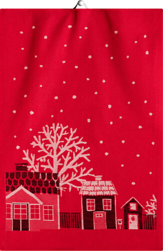 Ekelund Towel Julstad Organic Cotton Christmas Red Kitchen or Hand Towel