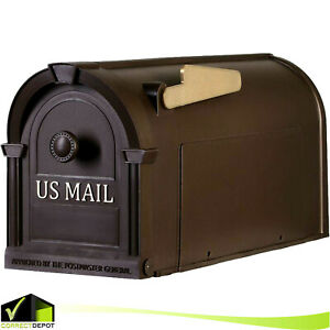 POST-MOUNT-MAILBOX-Durable-Plastic-Postal-Large-Mail-Box-Storage-Gold-Lettering