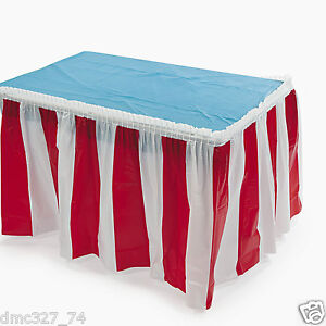 6556e6500 Image is loading CIRCUS-CARNIVAL-Big-Top-Decoration-Pleated-RED-and-