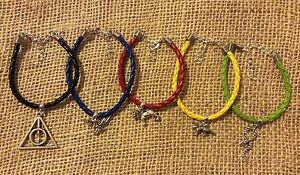 Harry-Potter-Charm-Bracelet-Gryffindor-Slytherin-Hufflepuff-Ravenclaw-Hallows