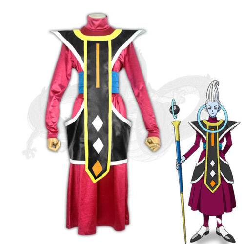 Anime Dragon Ball Cosplay Costume Uisu Whis Full Set Carnival Party costume Top