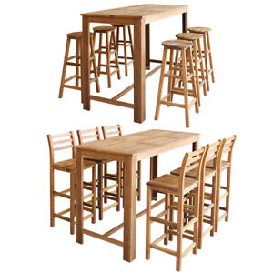 vidaXL-Wooden-Bar-Table-and-Chair-Stool-Set-3-5-7-Piece-Kitchen-Dining-Bistro