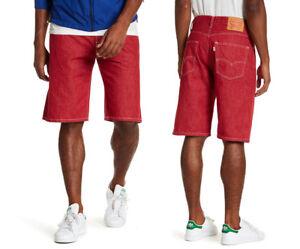 33e5ce5bbf0d Levi's 569 Loose Straight Men's Denim Jean Shorts in Red 355690249 ...
