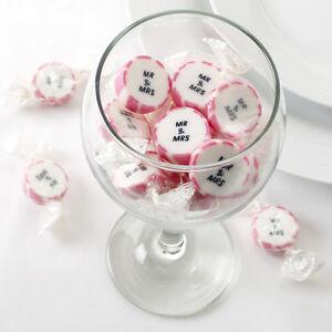 Hochzeitsbonbons-034-Mr-amp-Mrs-034-pink-50-Stueck-Gastgeschenk-Hochzeit-Candybar