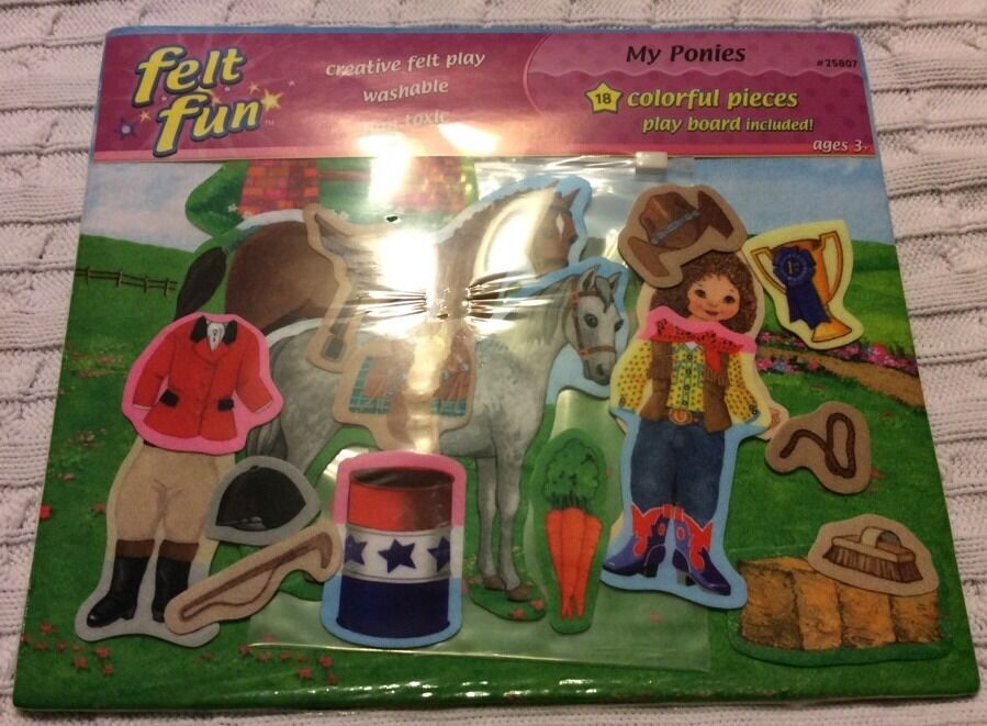 My ponies pony felt board and pieces new Home School Educational Pre School