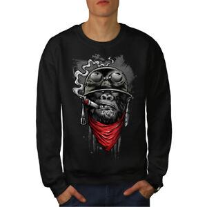 Sweatshirt Noir Solider Hommes Fashion Gorilla Nouveau uF1J3Kc5Tl