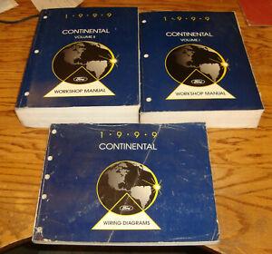 1999 Lincoln Continental Shop Service Manual Vol 1 2 ...