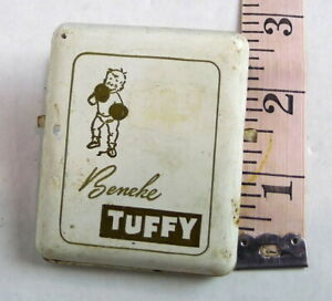 Vintage-Beneke-Tuffy-Metal-Advertising-Large-Paper-Clip-with-Hole-to-Hang