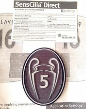 2016-17 FCB UCL BOH 5 Football Lextra SensCilia Sporting iD Soccer Badge Patch
