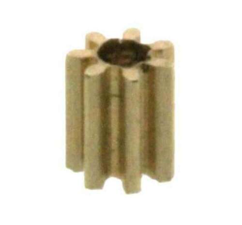 Zahnrad 7 Zähne Modul M0.2 0,8mm Bohrung Messing Z708
