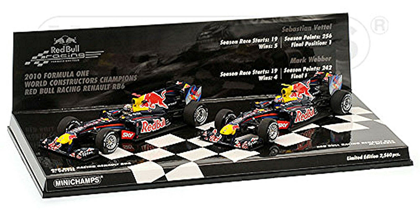 rouge Bull Racing Renault rb6 World constructors champions 2010 Démon Webber 1 43