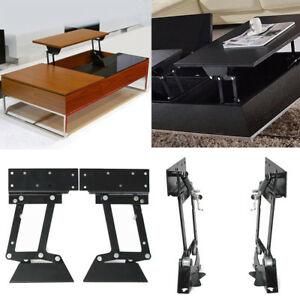 1 Pair Heavy Duty Lift Up Top Coffee Table Furniture Mechanism Hinge Hardware