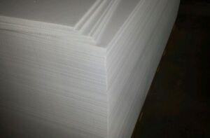 "50 pcs 18 x 12 x 4mm corrugated white sign blank coroplast 12"" flute landscape"