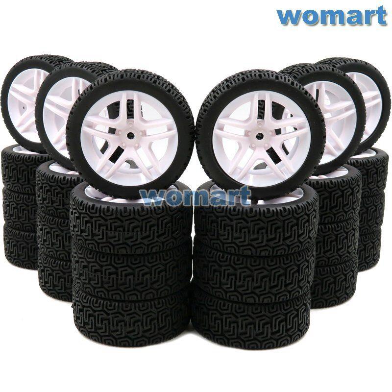24pcs 1 10 su strada Touring  GOMME & Hex 12mm ruedas rims per RC Auto da Corsa 1 10  la migliore moda