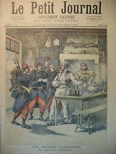 GRANDES MANOEUVRES BILLET DE LOGEMENT VAGUEMESTRE COURRIER LE PETIT JOURNAL 1893
