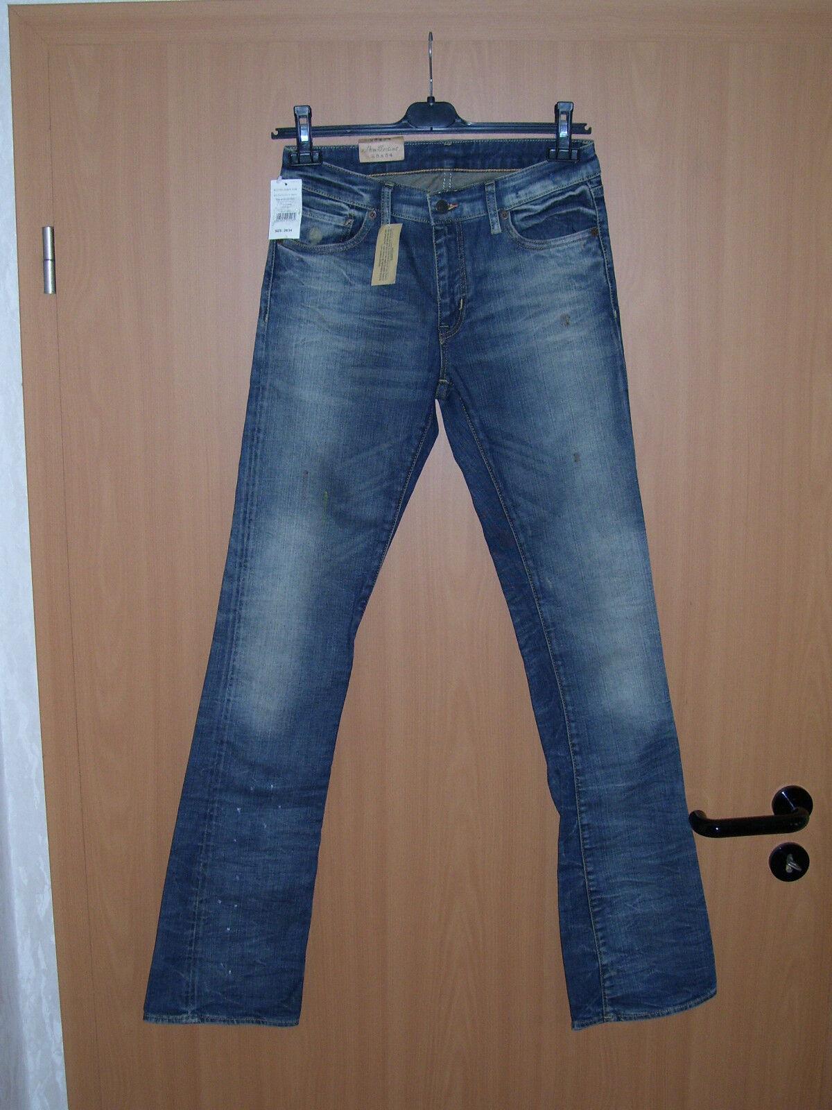 Polo Ralph Lauren Denim Supply Stretch Jeans Stiefelcut blau W28 L34 NEU