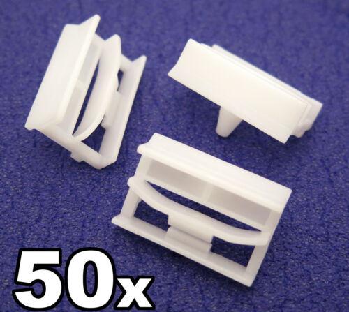 50x BMW SERIE 3 SIDESKIRT clip in plastica-Staffa di plastica per davanzale rifinitura