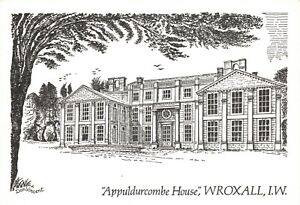 Art-Sketch-Postcard-Appuldurcombe-House-Wroxall-Isle-of-Wight-by-Don-Vincent-AS1
