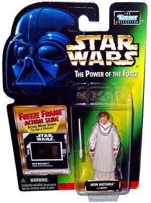 Star Wars Mon Mothma POTF Action Figure MOC Freeze Frame Power of the Force Toy