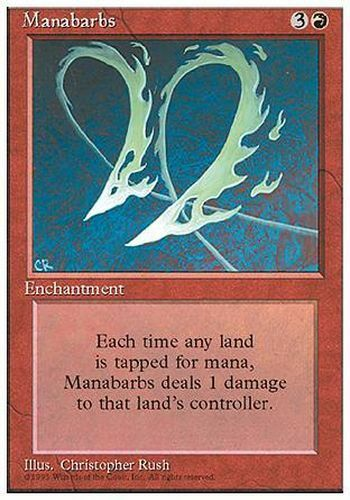 ▼▲▼ Barbelures de mana Manabarbs 4th #212 FRENCH Magic MTG