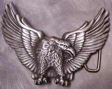 Pewter Belt Buckle animal bird Eagle in Flight NEW