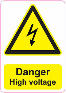 Danger High Voltage Health And Safety Signs Stickers