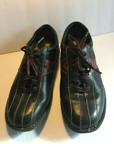 BORN-Oxford-Men-039-s-Leather-Black-Lace-Up-Brown-Design-Shoe-Size-8-Pre-Owned