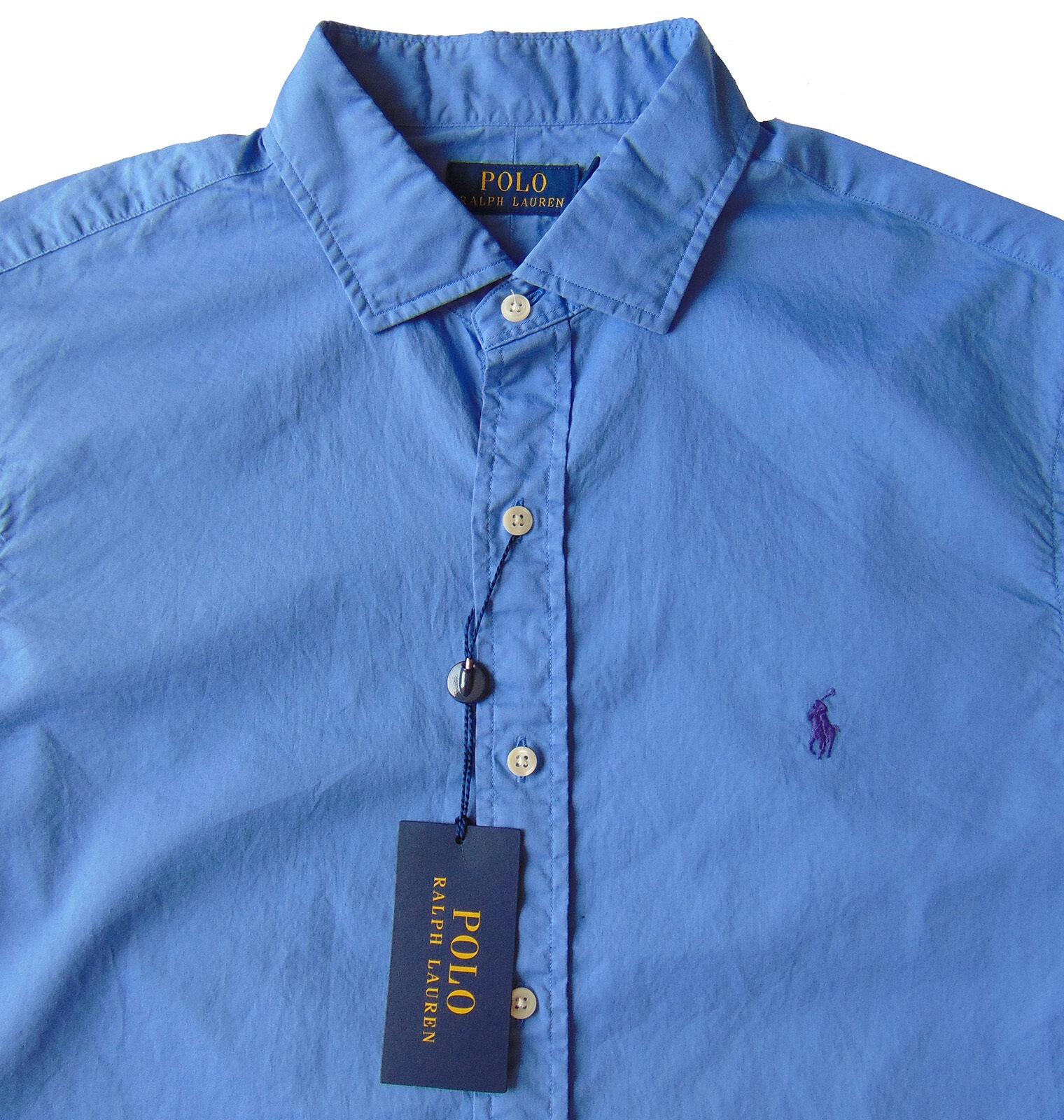Men's POLO RALPH LAUREN Harbor Island bluee Soft Cotton Shirt 2XLT TALL NWT NEW
