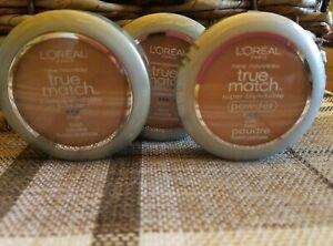 L-039-Oreal-True-Match-powder-C5-Classic-Beige-super-blendable-makeup-lot-of-3-NEW