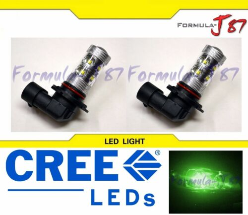 LED 50W 9006 HB4 Green Two Bulbs Head Light Low Beam Show Use Off Road Lamp