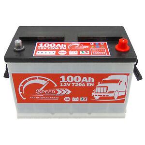 Speed Starterbatterie Batterie T3 032 100Ah EN 720 Autobatterie für Truck LKW