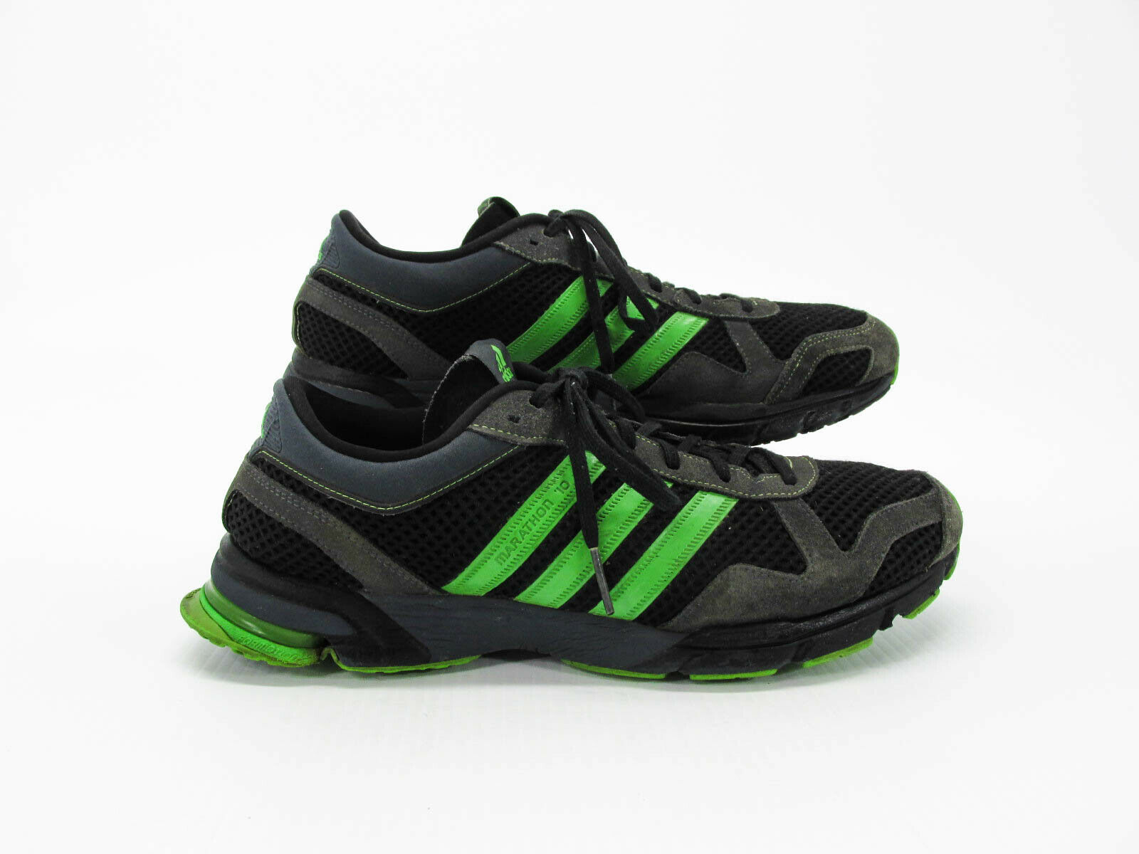 Adidas Marathon 10 Men Athletic Running shoes 11.5M Pre Owned HJ