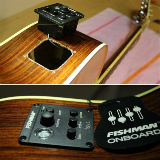 Fishman 2 Band Acoustic Guitar Pickup Onboard Preamps EQ DIY   eBay