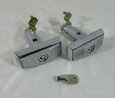 2 T Handle Vending Machine Pop Up Quarter Turn Chrome Locks Includes 1 Key