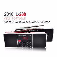 Mini Portable LCD FM Radio Stereo Speaker MP3 Music Player Micro SD TF USB AUX