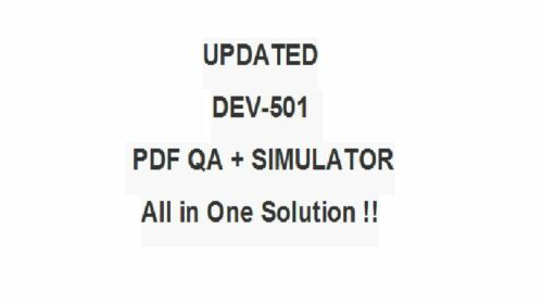 Salesforce Apex /& Visualforce Controllers Practice Test DEV-501 Exam QA PDF/&SIM