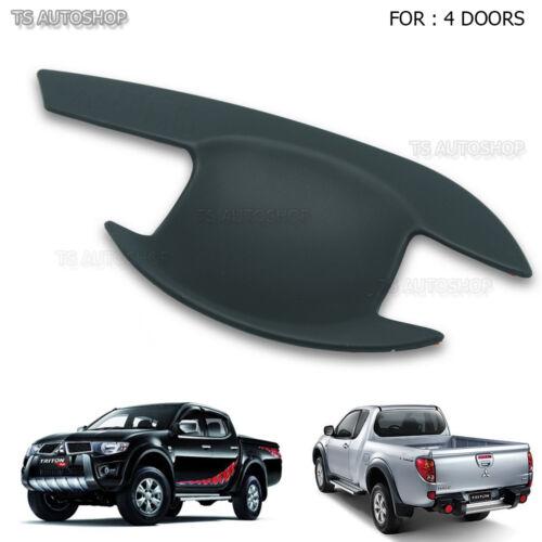For Mitsubishi Triton L200 2005-2014 4Dr Matte Black Handle Bowl Insert Cover