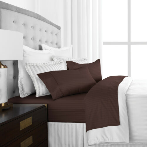 Hotel Collection 4 Piece Sheet Set with Embossed Stripes by ienjoy Home