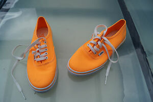 VANS-Women-039-s-Girl-039-s-Shoes-Trainers-Canvas-Shoes-Gr-36-36-5-Orange-White-Like-New