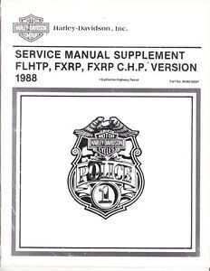 1988 Harley FLHTP FXRP/C.H.P. Police Service Repair Manual Supplement 99483-88SP