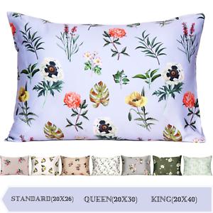 Luxury Satin Silk Pillowcase King Queen Standard Cushion Cover Pillow Case Cover
