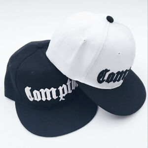 d64125db Image is loading Mens-Compton-Snapback-Hat-Womens-Embroidery-Compton-Hip-