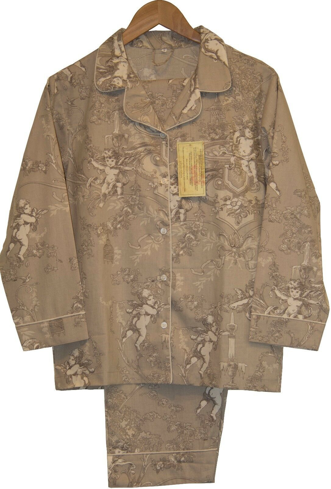 Cherubs Beige  100% Cotton Women's Pajamas