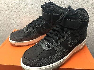 Nike Air Force 1 HI Premium Womens 654440 009 Black Sail Gum Shoes Size 10 | eBay