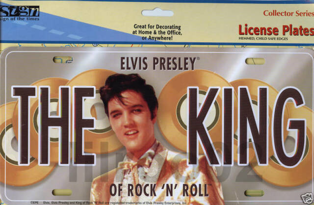 Elvis Presley The King of Rock LICENSE PLATE NEW!