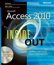 Microsoft Access 2010 Inside Out, Conrad, Jeff, Viescas, John, Good Book