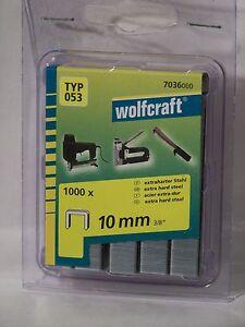 Tacker-Klammern-Typ-53-Wolfcraft-10mm-1000-Stueck-fuer-Bosch-Rapid-Novus