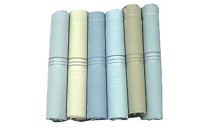6 Pieces of Men Handkerchief 100/% Cotton Durable Soft BEST PRICE