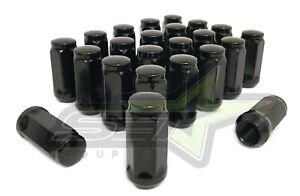 "20pc Black 3//4/"" Hex Bulge Acorn Lug Nuts fits 9//16/"" Dodge Trucks 1.9/"" Long"